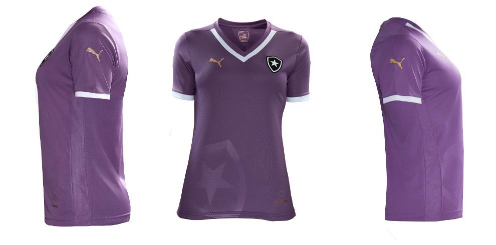 ce5fbfb841 Alvinegra roxa   Botafogo e Puma lançam nova camisa feminina. Veja ...